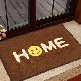 Classic Letter Design Home With Smile Face Anti-Slipping Doormat