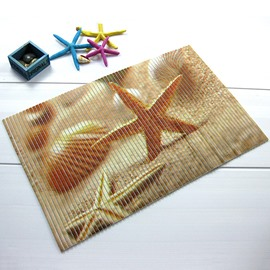 Wonderful Starfish Pattern Anti-Slipping Water-Resistant Bathroom Doormat