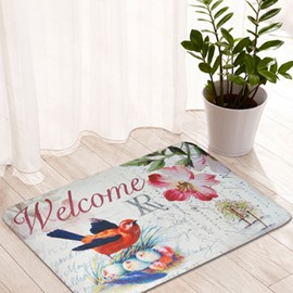 Wonderful Bird Nest Pattern Welcome Anti-Slipping Doormat