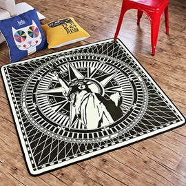 Modern American Statue Of Liberty Bedroom Area Rug