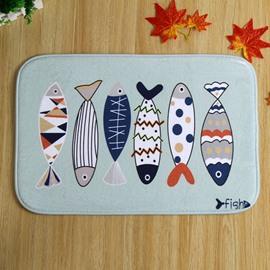 Wonderful Fish Pattern Anti-Slipping Doormat