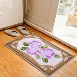 Gorgeous Pink Flowers Pattern Anti-slipping Doormat