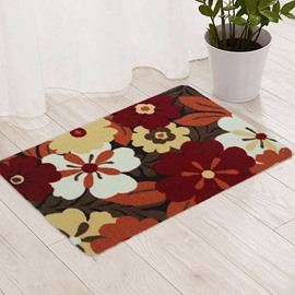 Colorful Flowers Pattern Bedroom Living Room Anti-slipping Doormat