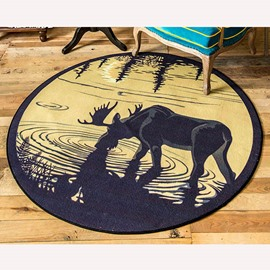 Classic Wonderful Pen-and-Ink Drawing Deer Area Rug
