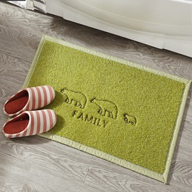 Green Cute Little Bear Pattern Home Decorative Doormat