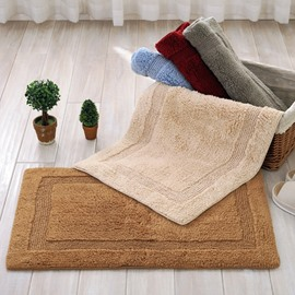 Soft Cotton Chenille Rectangle Double-sided Washable Living Room or Kitchen Doormat
