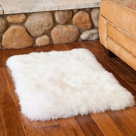 Simple Style Square Design Durable Dampproof Woollen Area Rug