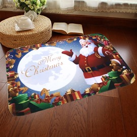 Modern Design Santa Claus and Presents Pattern for Christmas Decoration Doormat