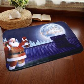 Cute Merry Christmas Santa Claus Pattern Home Decorative Washable Doormat