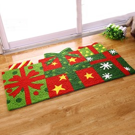 Designer Christmas Gifts Pattern Christmas Theme Anti-Slip Acrylic Rug
