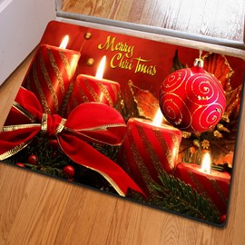 Rectangle Red Simple Style Gift Pattern Christmas Decoration Non Slip Doormat
