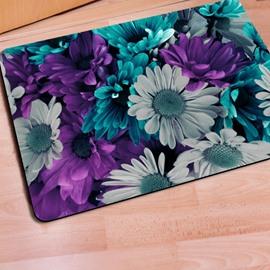 Fabulous Rectangle Daisy Flower Print Christmas Decorative Non Slip Doormat