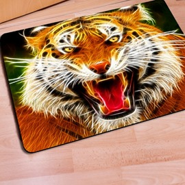 Realistic Rectangle Tiger Print Home Decorative Non Slip Doormat