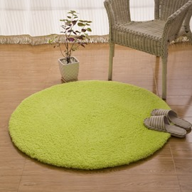 Round Simple Style Pure Color Skid Resistance Home Decorative Area Rug