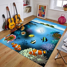 Crystal Velvet Rectangle Cartoon Style Waterproof Soft Area Rug