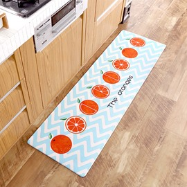PU Leather Casual Style Kitchen Waterproof Anti-Slip Area Rug