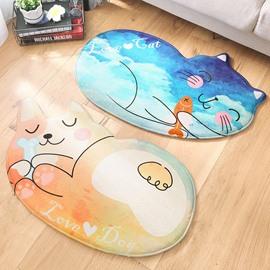 Cartoon Style Animal Shape Water Absorption Anti-Slip Area Rug