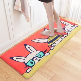 Anti-Slip Flannel Water Absorption Living Room Machine Made Area Rug