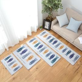 Cartoon Style Wearproof Living Room Machine Wash Area Rug