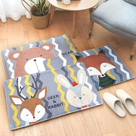 Home Use Wearproof Anti-Slip Water Absorption Polyester Area Rug