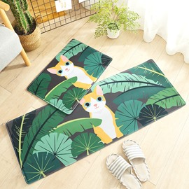 Wearproof Water Absorption Polyester Living Room Area Rug