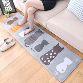 Cartoon Style Living Room Rectangle Anti-Slip Area Rug
