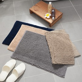 Micro Fiber Thicken Chenille Anti-Slip Bathroom Water Absorption Area Rug