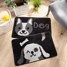 Water Absorption Hallway Polyester Cartoon Style Animal Area Rug
