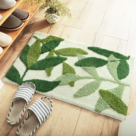 Floral Pattern Thicken Polyester Bathroom Polyester Area Rug
