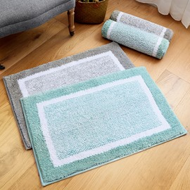 Simple Style Thicken Water Absorption Polyester Rectangle Anti-Slip Area Rug