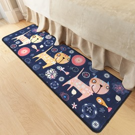 Rectangle Polyester Creative Pattern Water Absorption Area Rug
