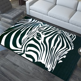 Zebra Thin Fashion European Style Polyester Rectangle Area Rug