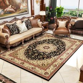 Persian Classical Style Print Anti-Slip Machine Made Area Rug