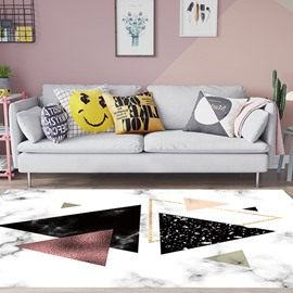 Modern Style 80*160cm Anti-Slip Polyester Rectangle Geometric Pattern Area Rug