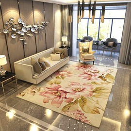 120*160cm Nordic Style Polyester Rectangle Hand Wash Living Room Area Rug