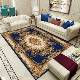 Persian Style Print Living Room Polyester Rectangle Area Rug