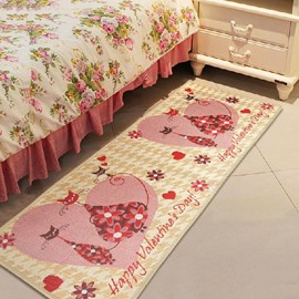 Romantic Love Cats Pattern Non-slip Area Rug