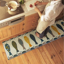 Creative Fish Pattern Kitchen Anti-Slipping Area Rug