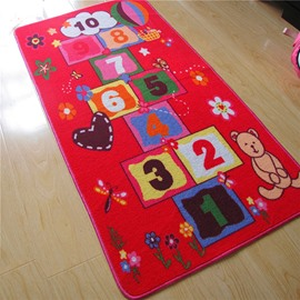 Creative Cartoon Hopscotch Kidsroom Area Rug