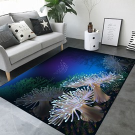 Cartoon Style Wearproof Crystal Velvet Rectangle Area Rug