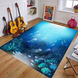 Crystal Velvet Cartoon Style Waterproof Rectangle Area Rug