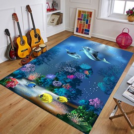 Rectangle Crystal Velvet Cartoon Style Wearproof Area Rug