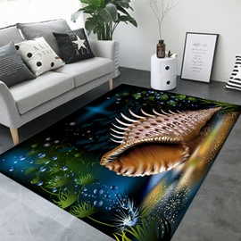 Cartoon Style Waterproof Rectangle Crystal Velvet Area Rug