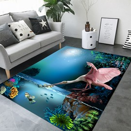 Cartoon Style Wearproof Rectangle Crystal Velvet Area Rug