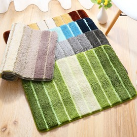 Simple Style Bedroom Bathroom Anti-Slip Water Absorption Area Rug