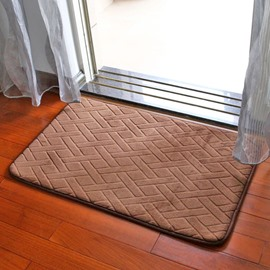 Slow Rebound Bedroom Bathroom Memory Foam Water Absorption Area Rug