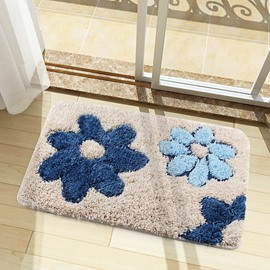 Microfiber Water Absorption Bathroom Anti-Slip Modern Style Area Rug