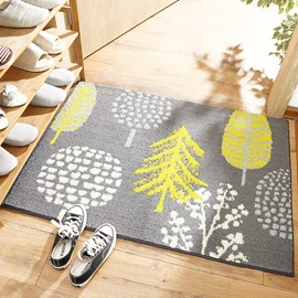 European Style Polyester Kitchen Bathroom Anti-Slip Weaproof Area Rug