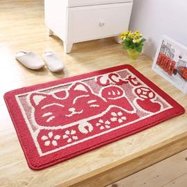 Retro Style Blending Machine Made Rectangle Anti-Slip Area Rug