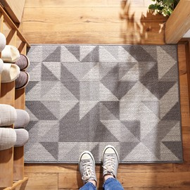 Geometric Pattern Dust Removal Wearproof Anti-Slip Area Rug